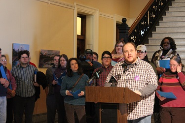 Thomas Ptacek of Portland was one of several who told his health care story.