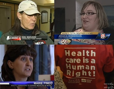 Members who are being denied access to health care told their stories to the media.